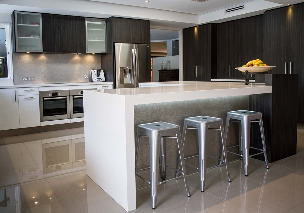 Quantum Quartz Kitchen Stone Benchtop Sydney Stonemason galaxy white