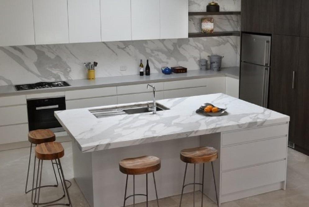 Stone Solutions - Avant Stone Calacatta Oro Extra - Porcelain Benchtop - Sydney Installation