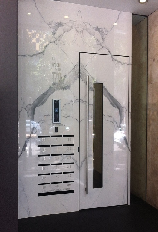 Stone Solutions - Quantum Six+Statuario Six+ - Wall Cladding - Sydney Installation 2