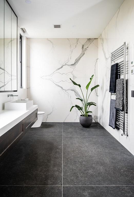 Stone Solutions - Quantum Six+Statuario Six+ - Wall Cladding - Sydney Installation