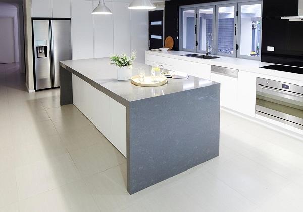 Quantum Quartz Gris-Fuma-Quartz-Stone Kitchen Countertop Sydney