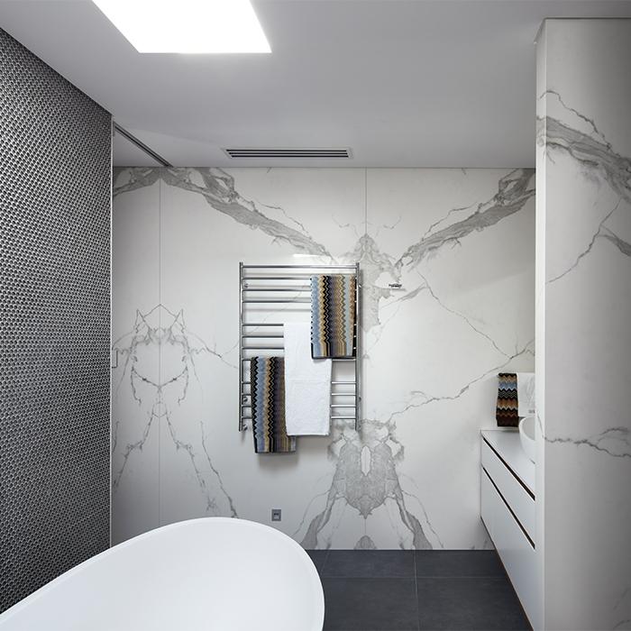 Porcelain Sintered Stone Neolith Wall Cladding Bathroom - Estatuario