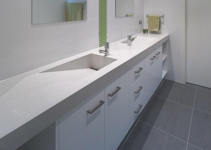 Naturastone Bathroom Vanity Stone Benchtop Sydney Overlay Stone Stonemason Sydney INstalled