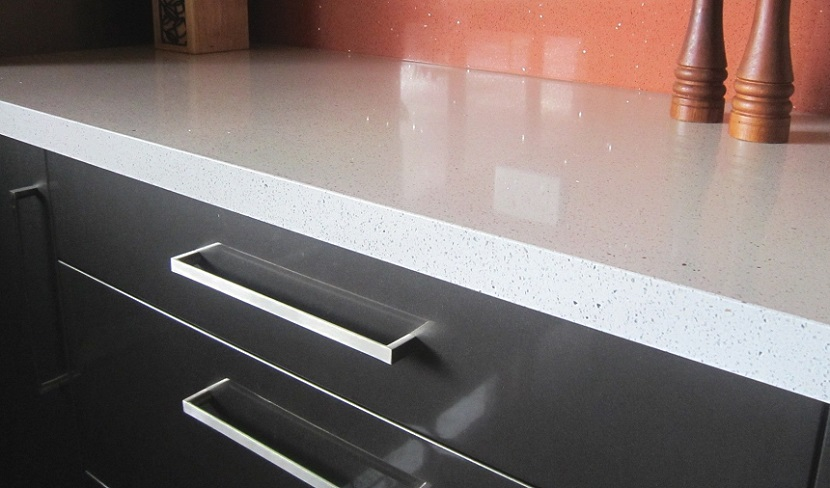 Naturastone Kitchen Countertop with Overlay Stone Close Up Stonemason Sydney